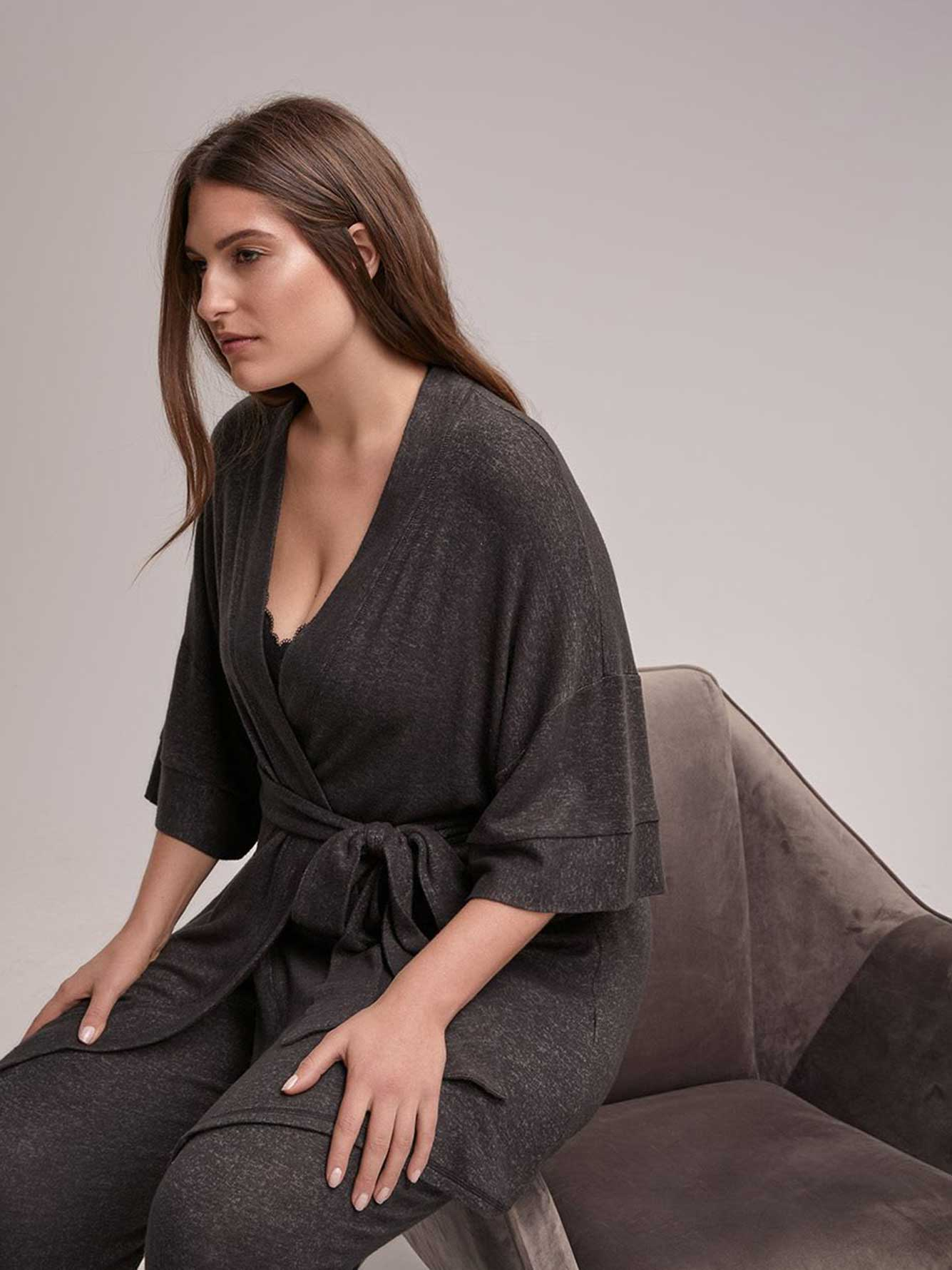 Lounge Cardigan with Sash - ti Voglio