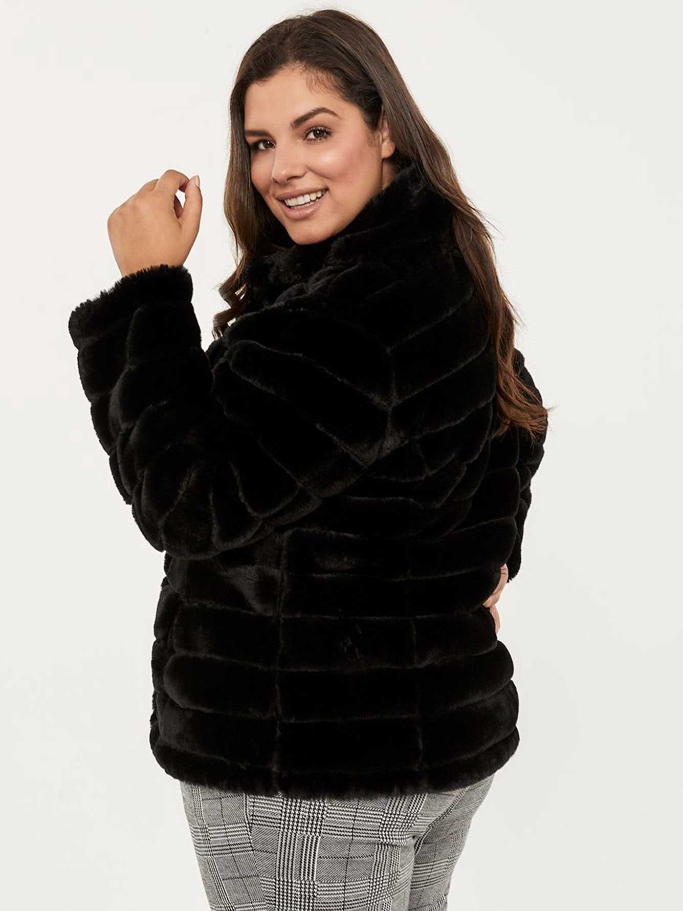 Quilted Faux-Fur Jacket - In Every Story