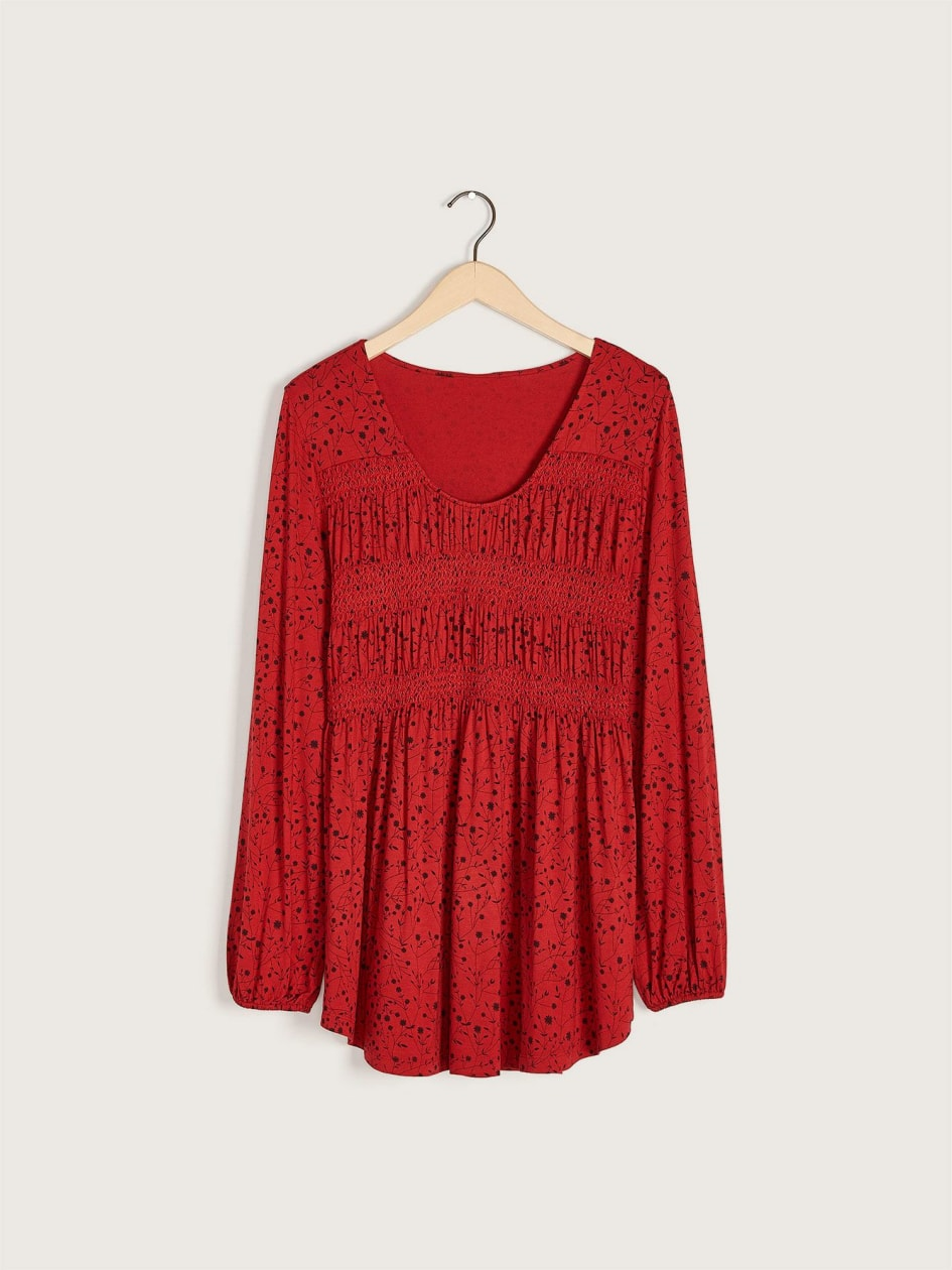 Long-Sleeve Smocked Top - In Every Story