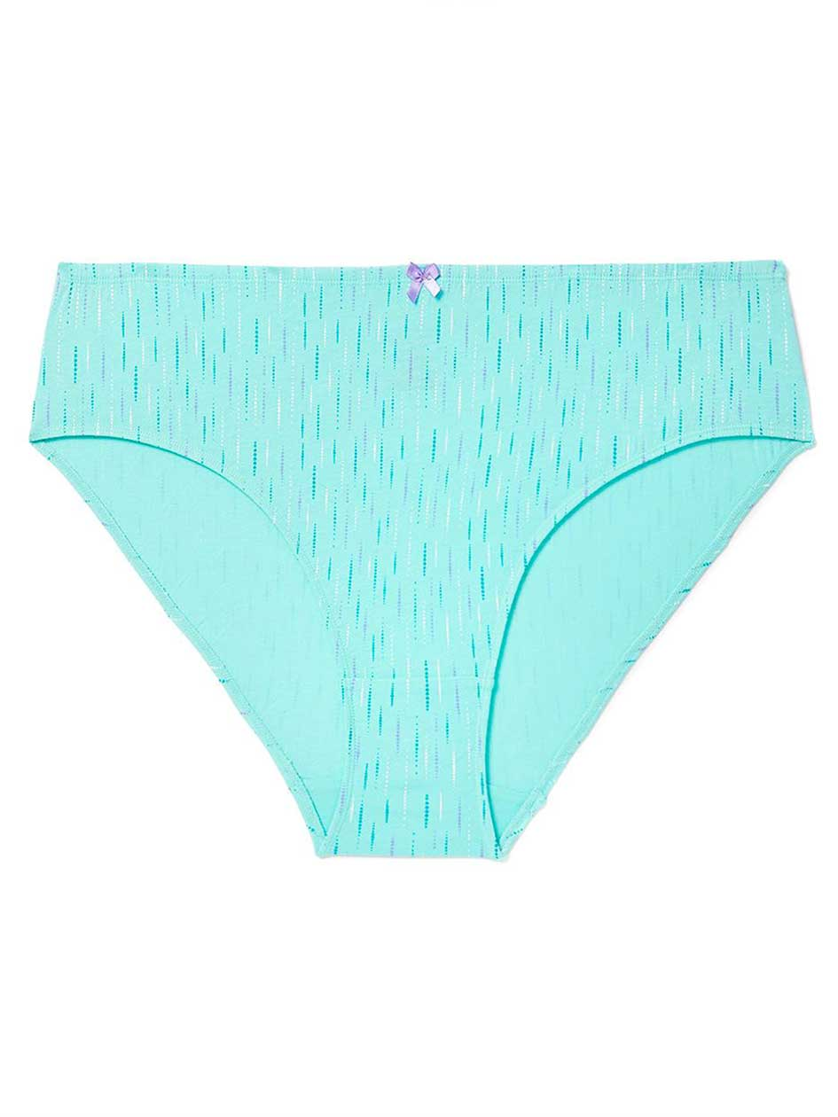 Printed Cotton High Cut Brief Panty - ti Voglio