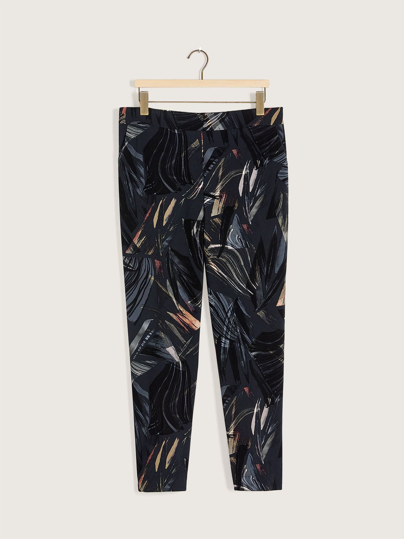 Printed Pull-On Crepe Pant - Addition Elle