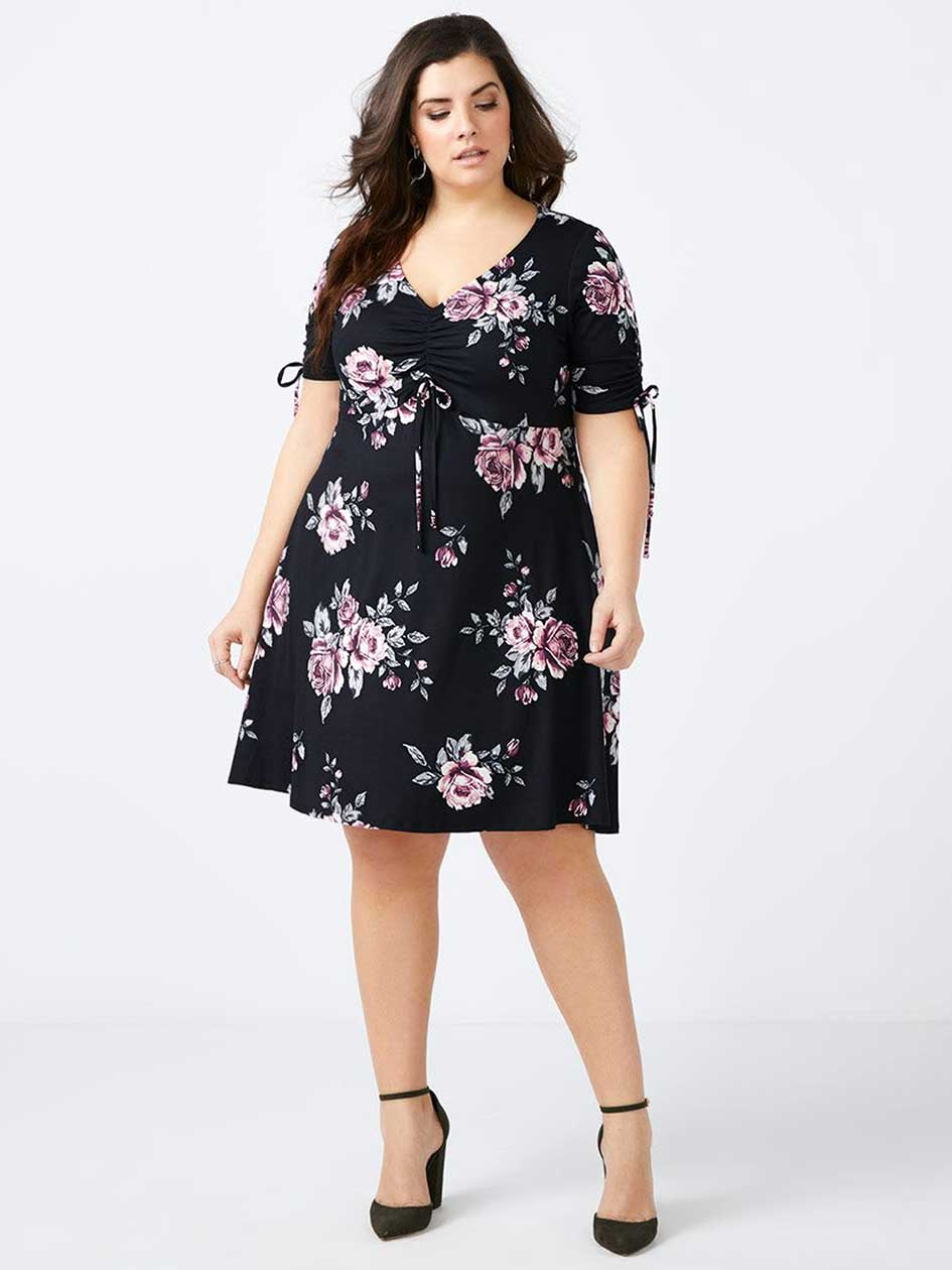 ONLINE ONLY Fit and Flare Floral Dress with Bow Detail - In Every Story