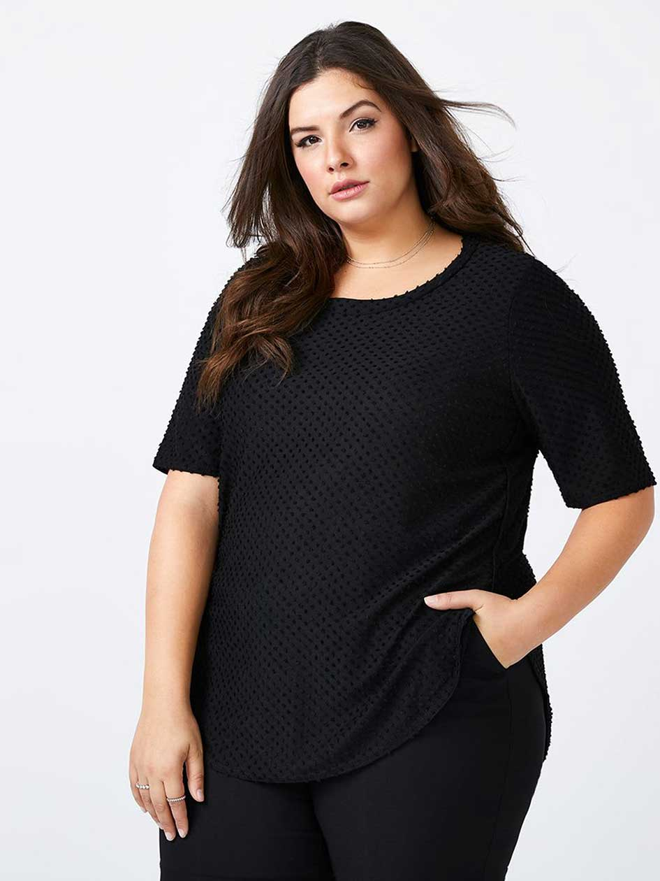 Elbow Sleeve Patterned Top