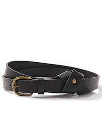 Faux Leather Belt with Knot