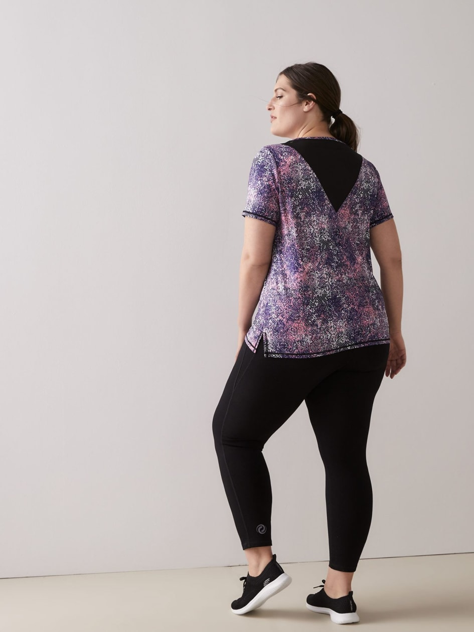 Short-Sleeve Top with Mesh Inserts