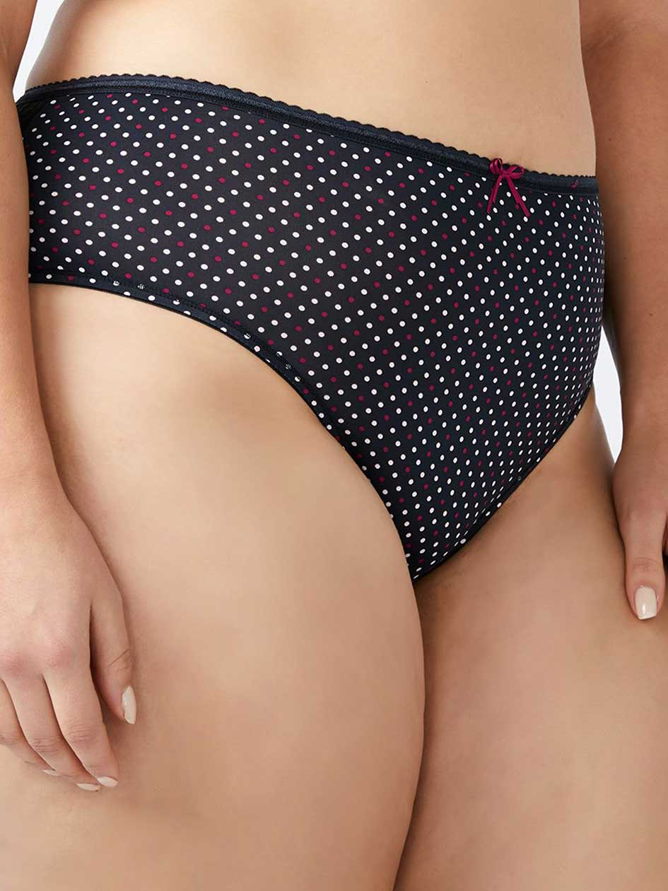 Printed Hipster Panty with Lace Back - Ti Voglio