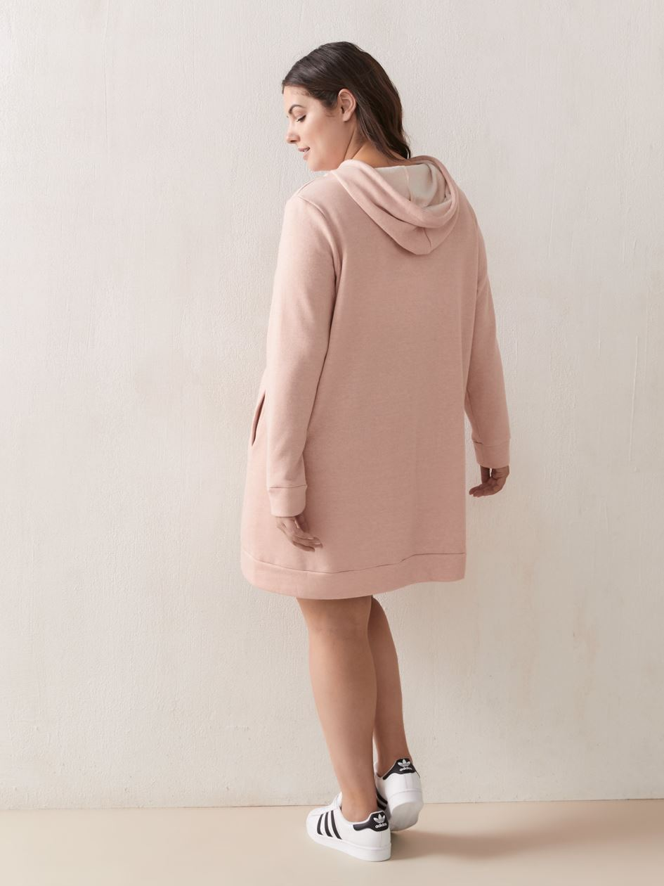 Hooded Fleece Dress - Active Zone