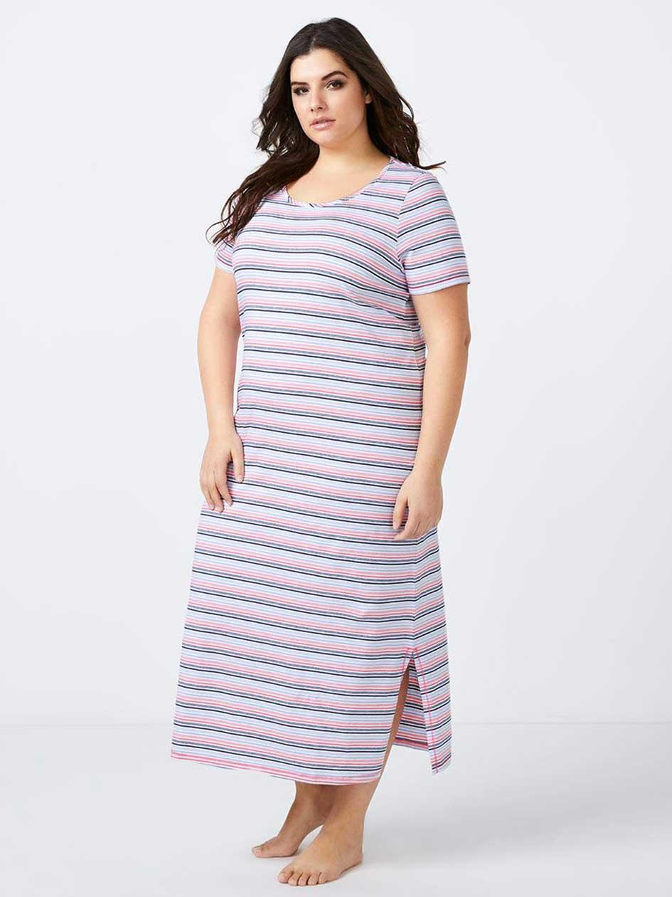 Long Printed Cotton Sleepshirt - ti Voglio