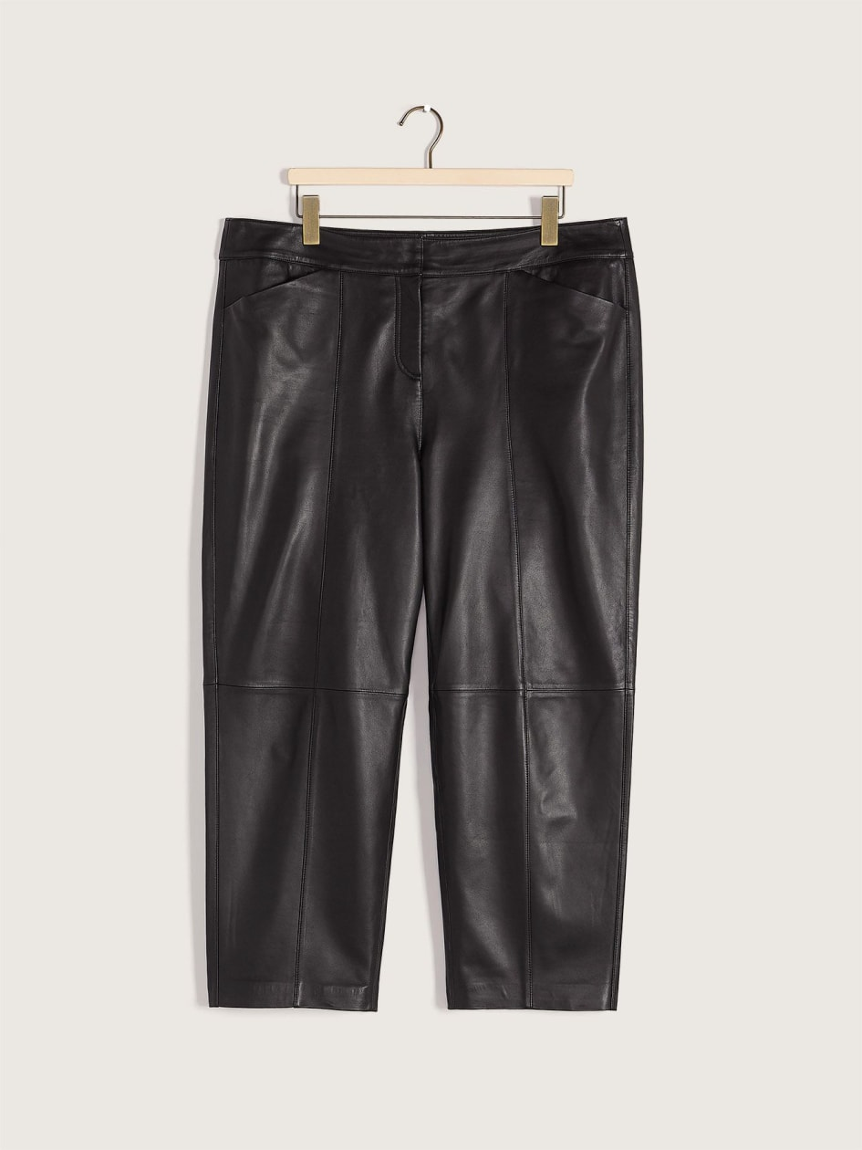 Genuine Leather Ankle Pant - Addition Elle