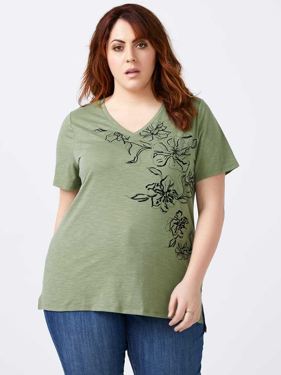 Curve Fit Printed T-Shirt - d/C JEANS