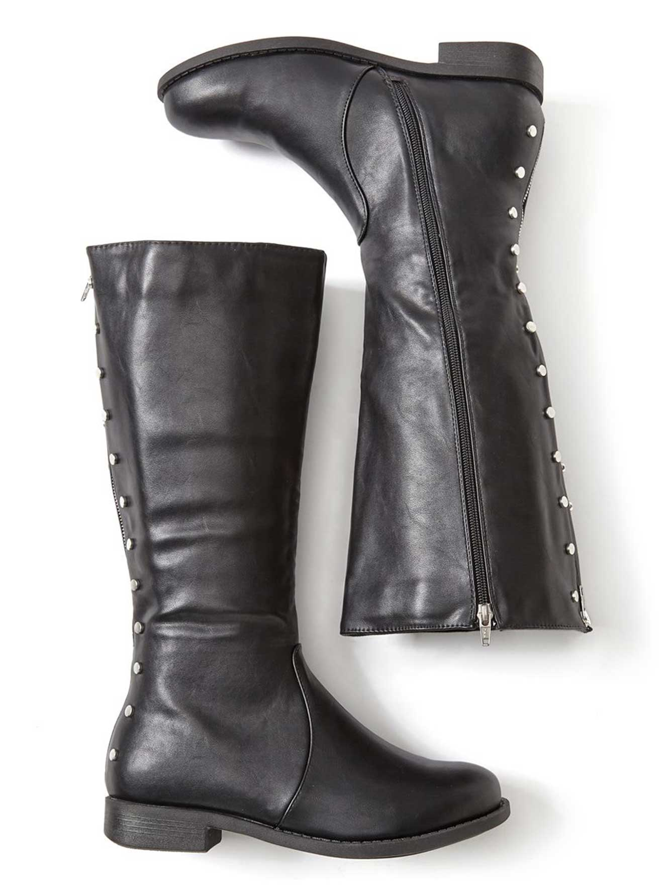 20e36fa30c3a Wide-Width Wide Calf Tall Faux-Leather Boots