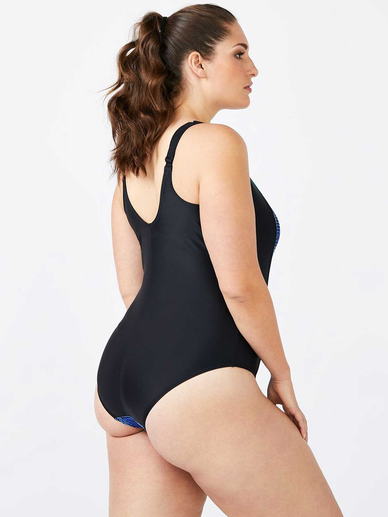 23ec0add30b ActiveZone - Plus-Size Printed One-Piece Swimsuit | Penningtons