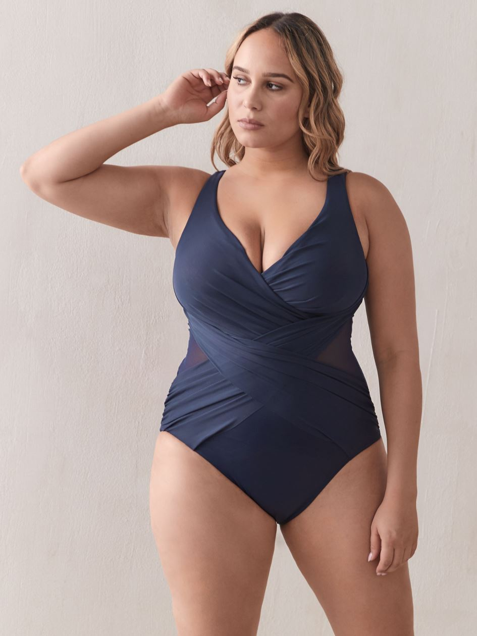 Crossover One-Piece Swimsuit - MiracleSuit
