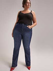 Slightly Curvy Bootcut Leg Jean with Side Embellishment - d/C JEANS