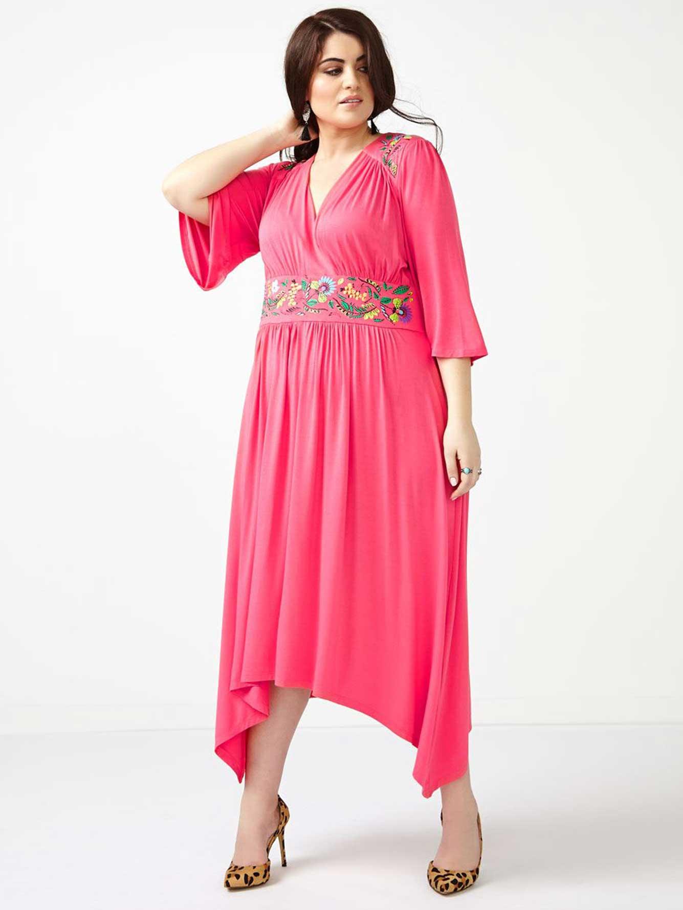 0fec99ae307 MELISSA McCARTHY 3 4 Sleeve Maxi Dress
