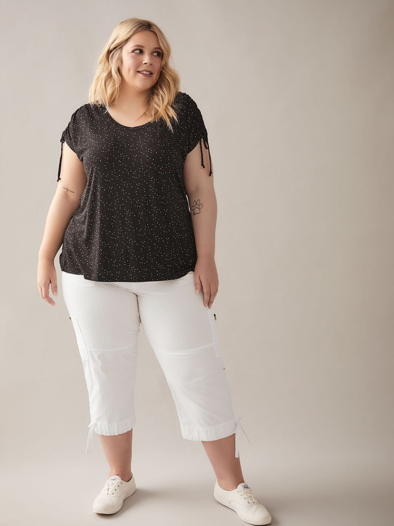 Shirred Shoulder Swing Top - In Every Story