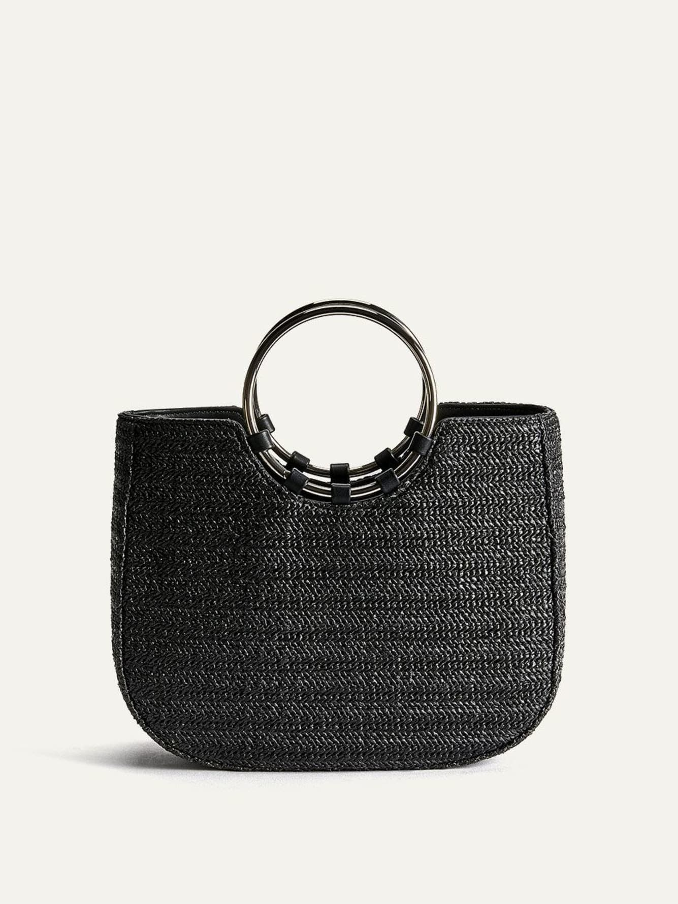 Straw Ring Satchel - Addition Elle