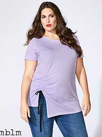mblm - Short Sleeve Top with Drawstring