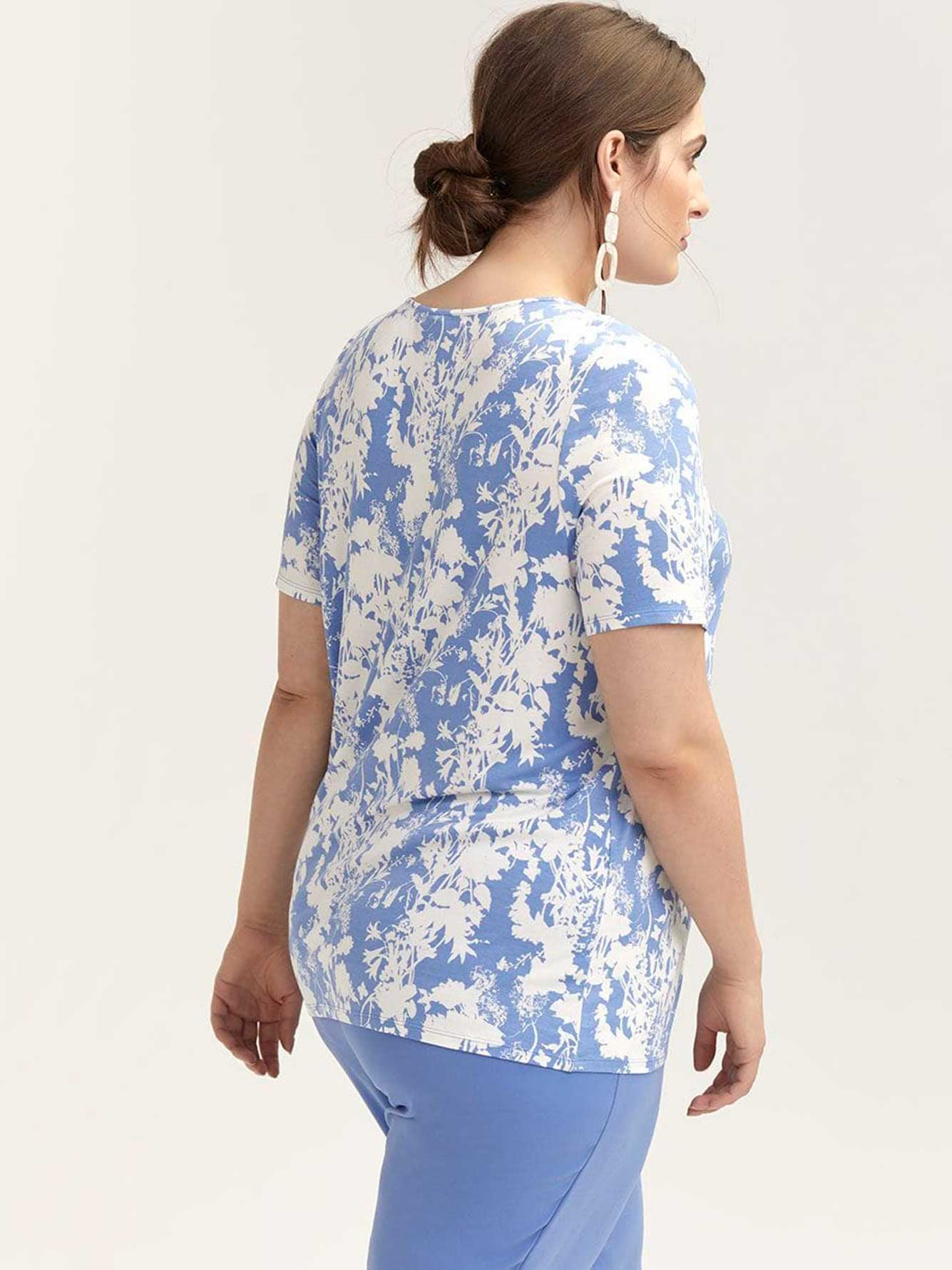 Printed Short Sleeve Top - In Every Story