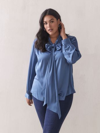 Tie-Neck Blouse - Addition Elle