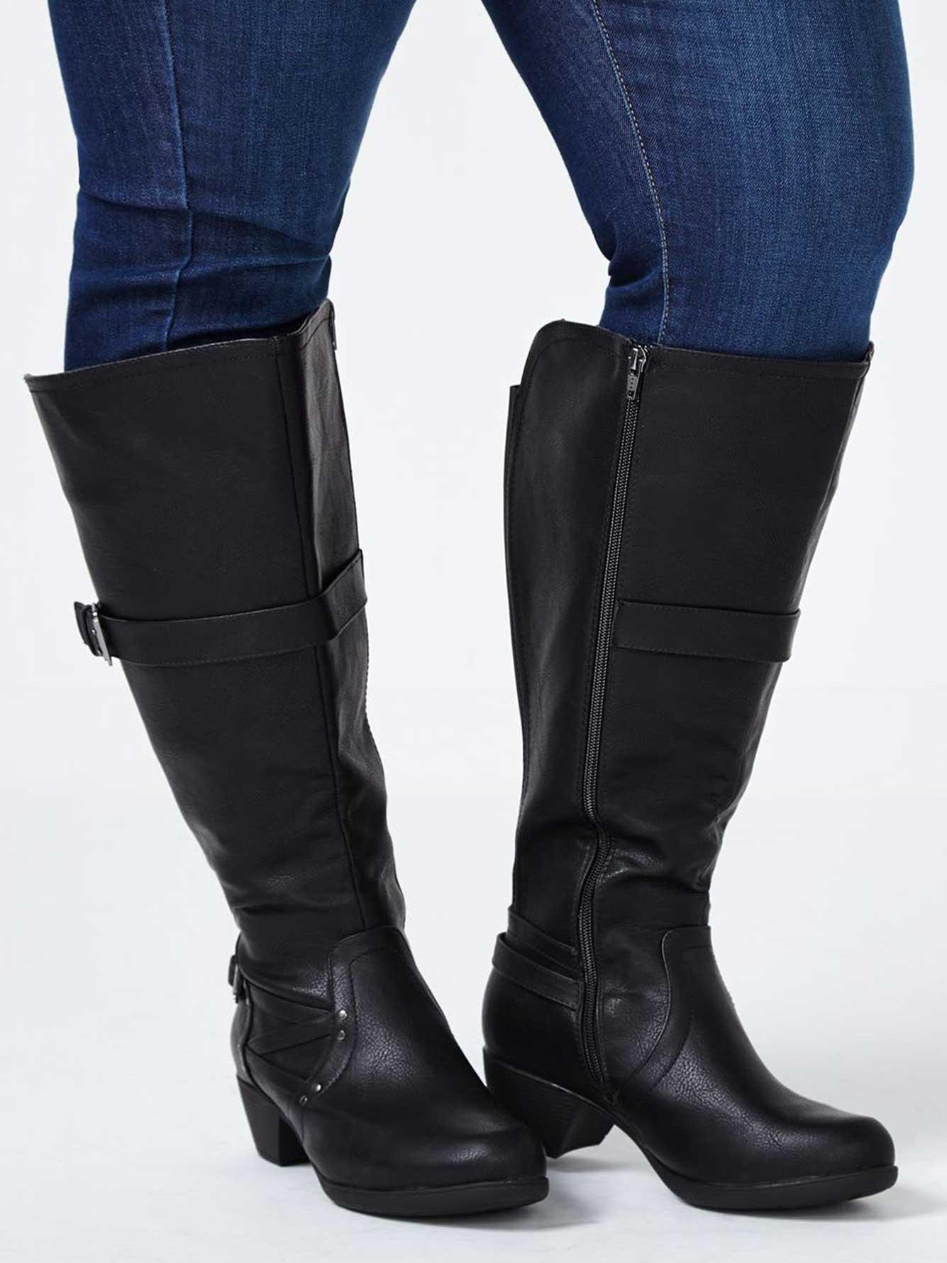 a11219f1cd1f7 Knee High Wide-Width Boots | Penningtons