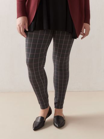 Plaid Print Legging - Addition Elle