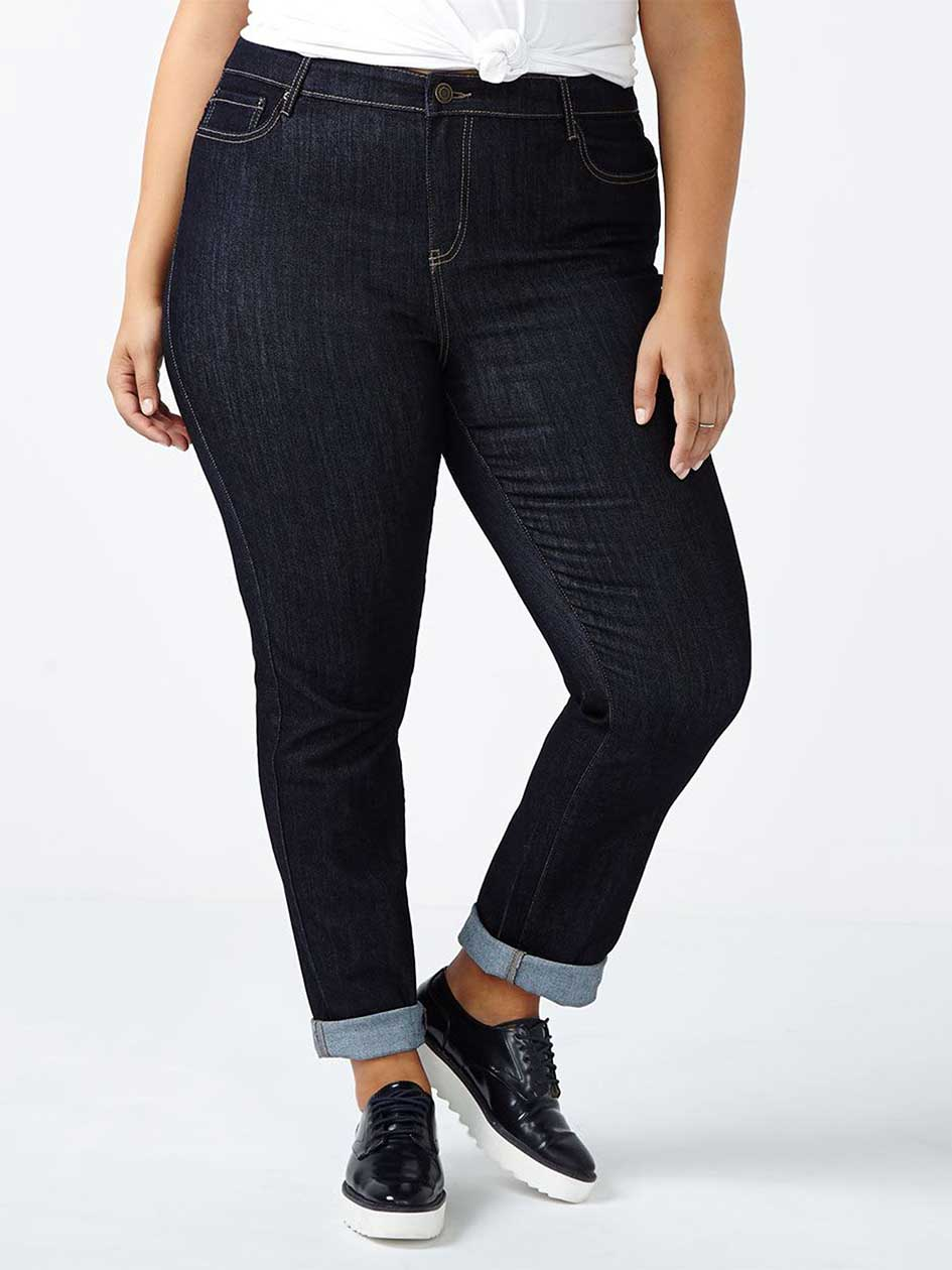 d/c JEANS Petite Straight Fit Straight Leg Jean