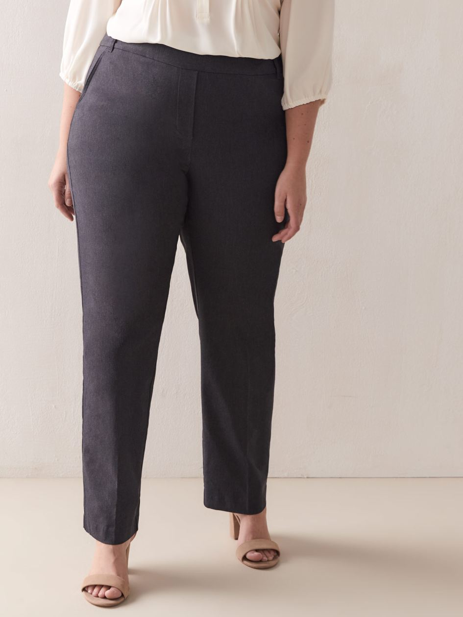 Savvy, Straight-Leg Ankle Pant - Addition Elle
