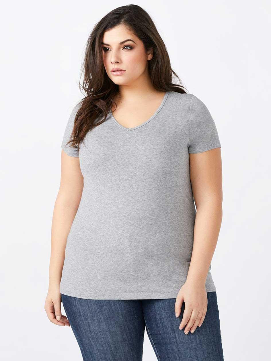 Layering Fit Basic V-Neck T-Shirt