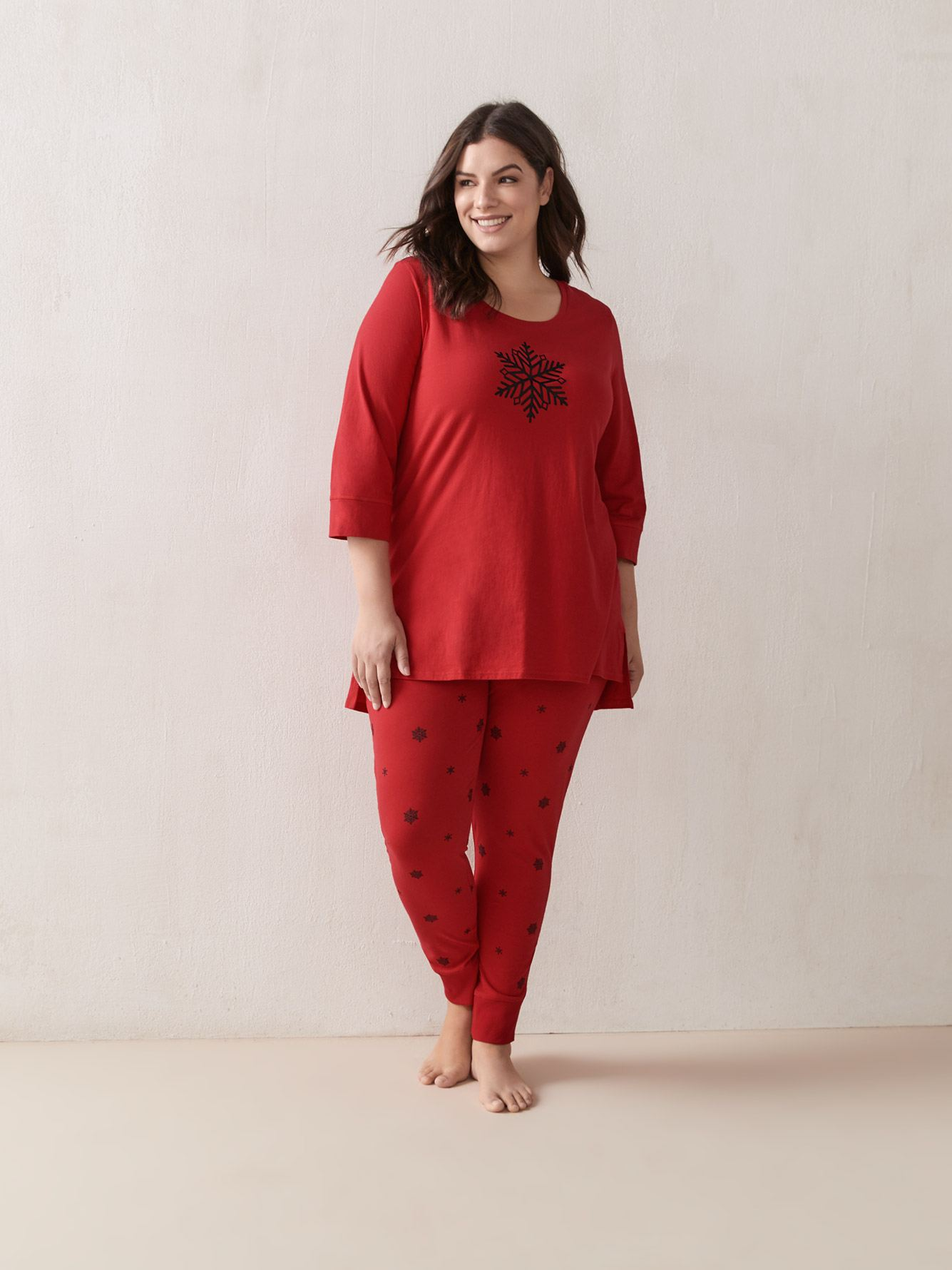 PJ Set Cotton Tunic With Jegging Sleep Pant - ti Voglio