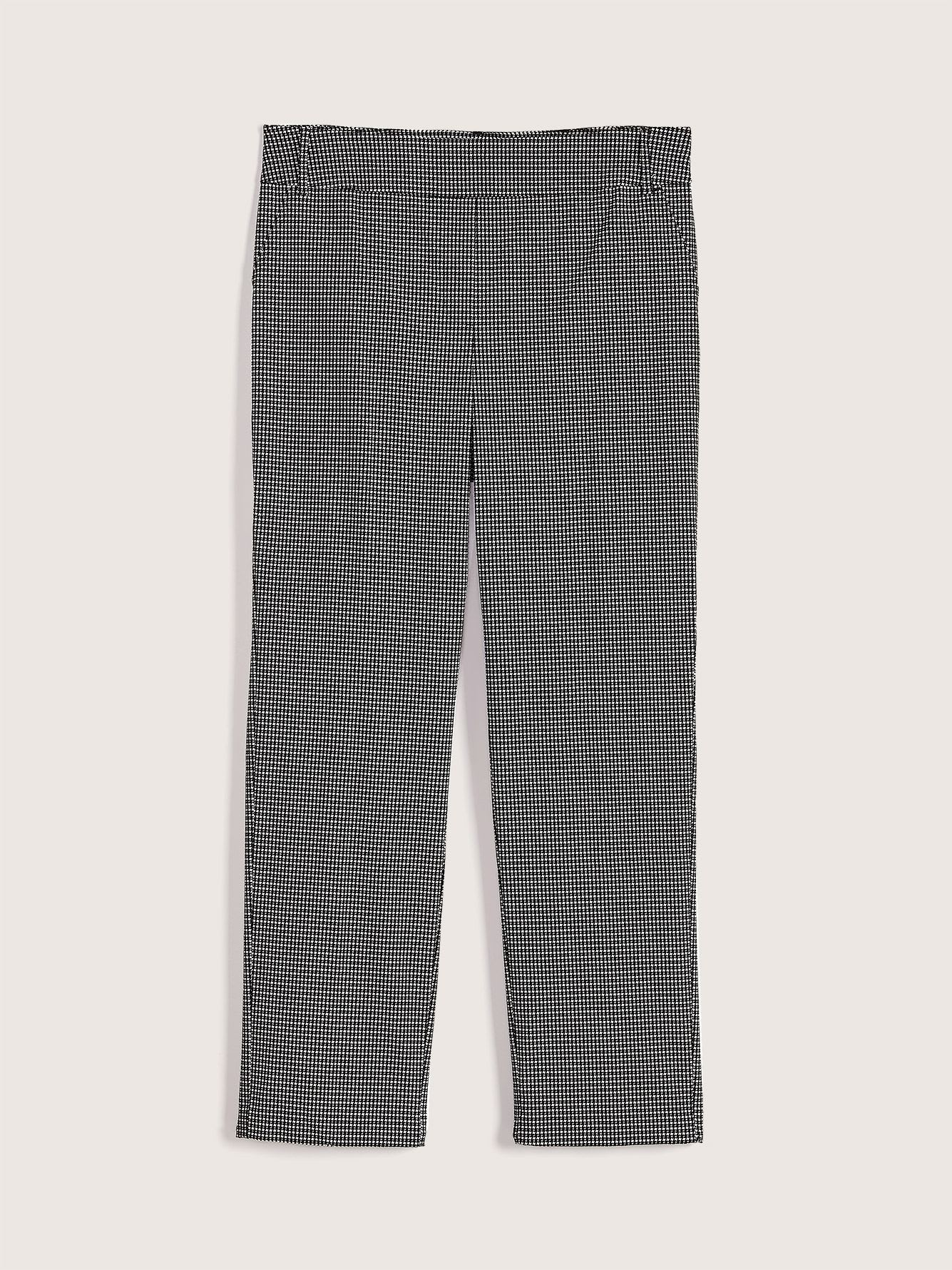 Straight Leg Checkered Pant - Addition Elle