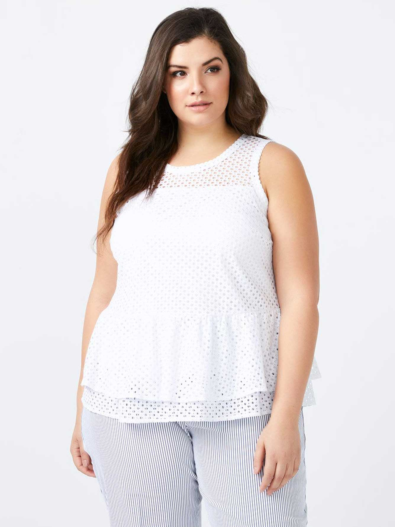 Sleeveless Blouse with Ruffled Peplum - In Every Story