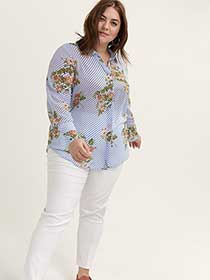 Printed Long Sleeve Blouse - In Every Story