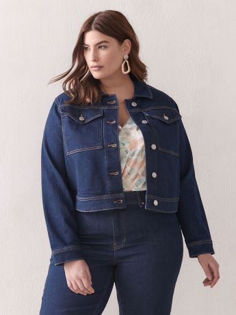 Boxy-Fit Denim Jacket - Addition Elle