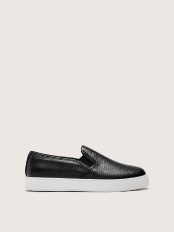 Wide Width Snakeskin Slip On Sneakers - In Every Story
