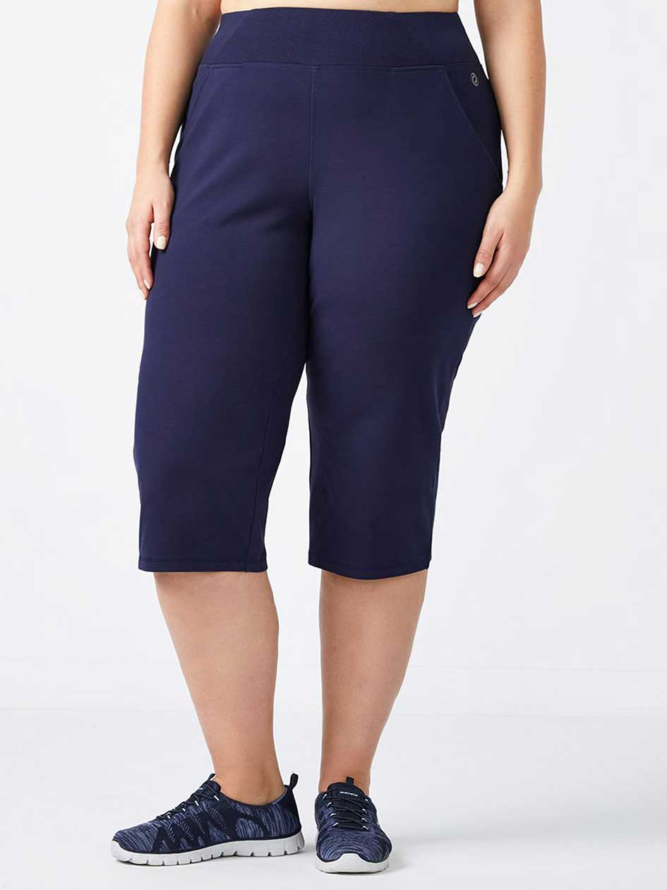 ONLINE ONLY - Plus-Size Basic Relaxed Capri - Essentials