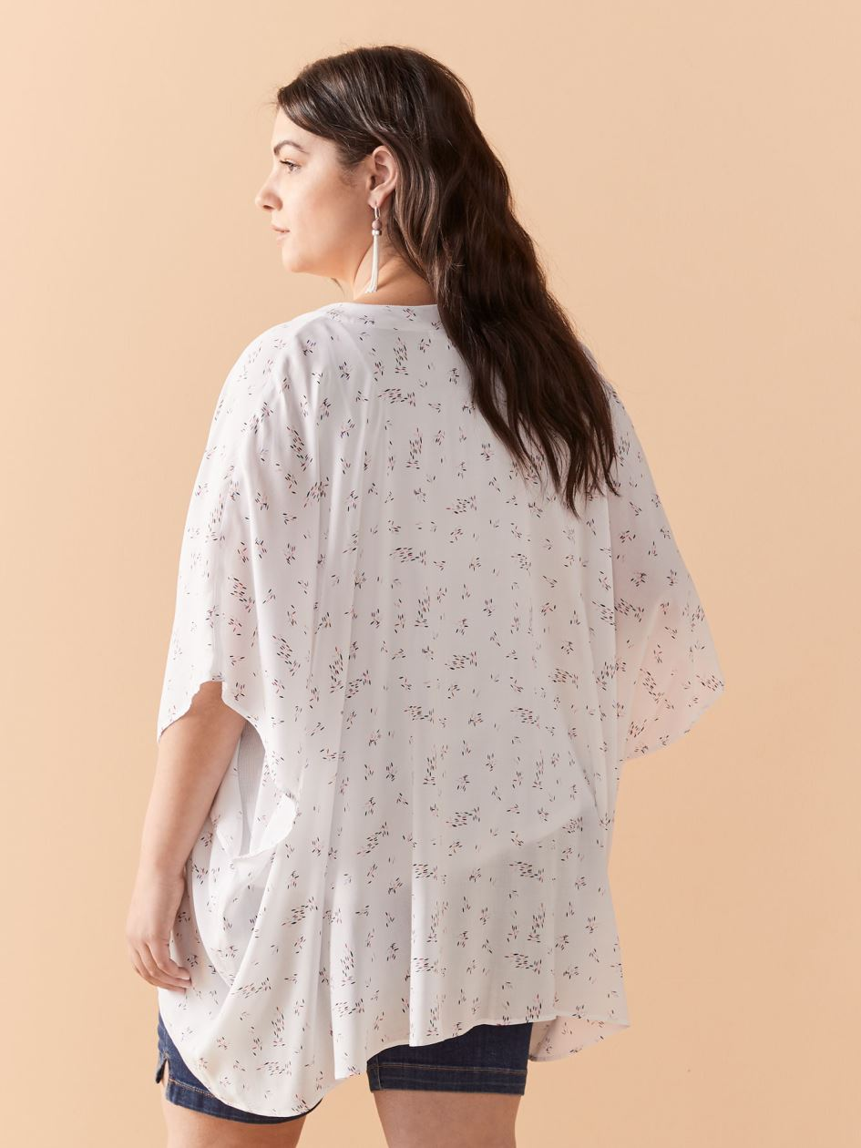 Short Sleeve Cover Up Kimono Top - In Every Story