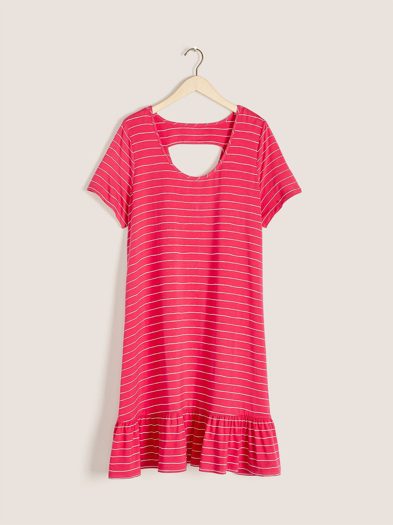Printed Swing T-Shirt Dress - In Every Story