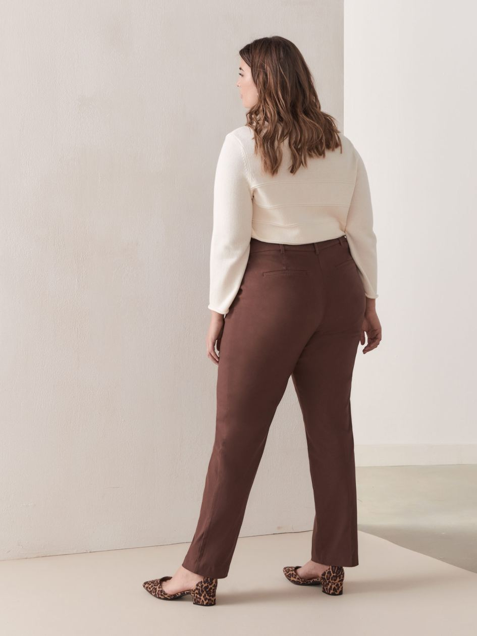Petite, Straight Leg Solid Pant - Addition Elle