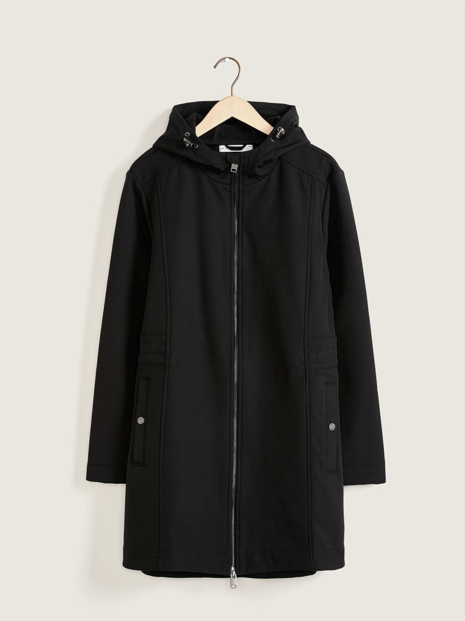 Mid-Length Hooded Soft Shell Jacket - In Every Story