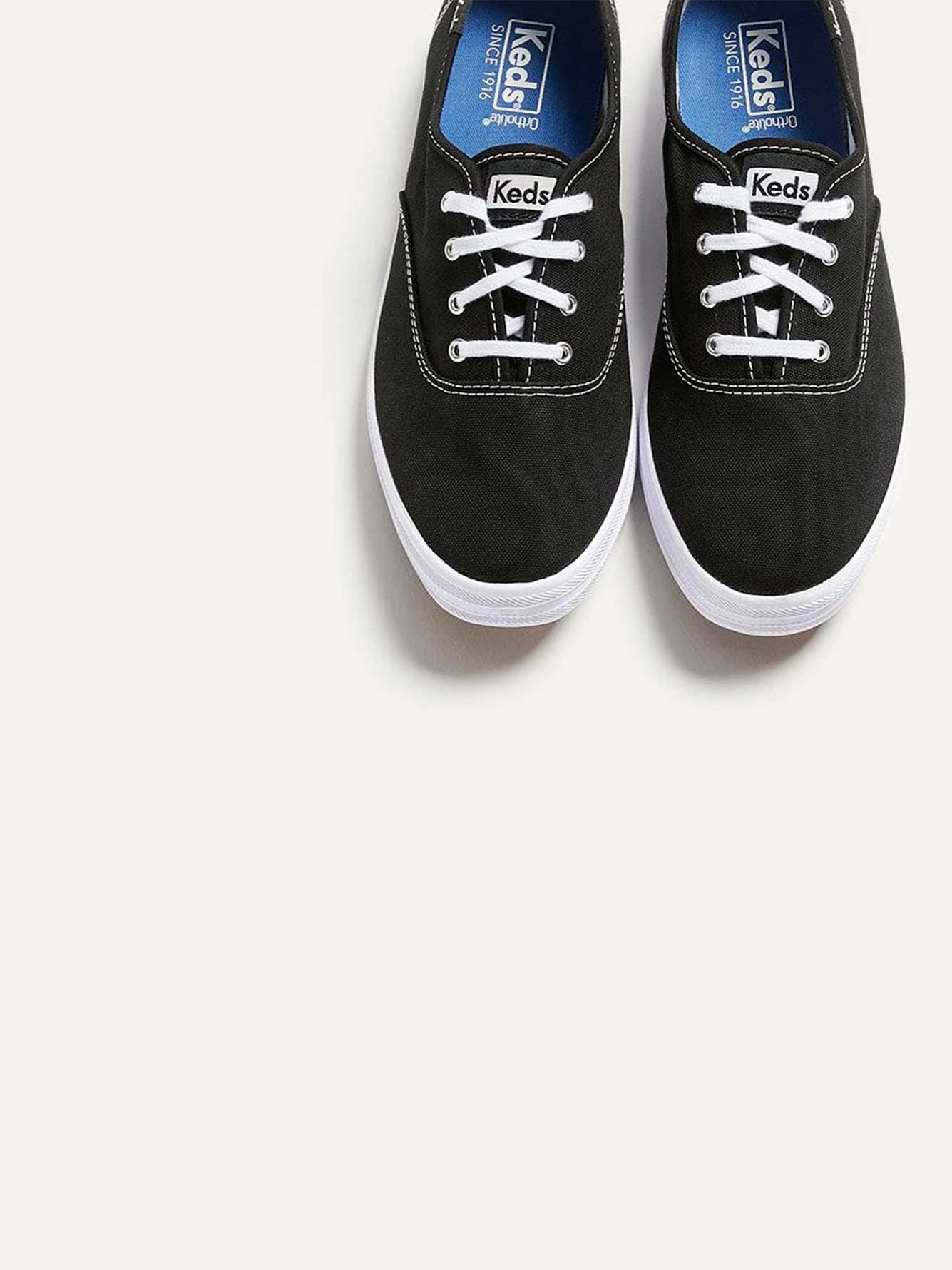 Wide Champion Oxford Canvas Shoes - Keds