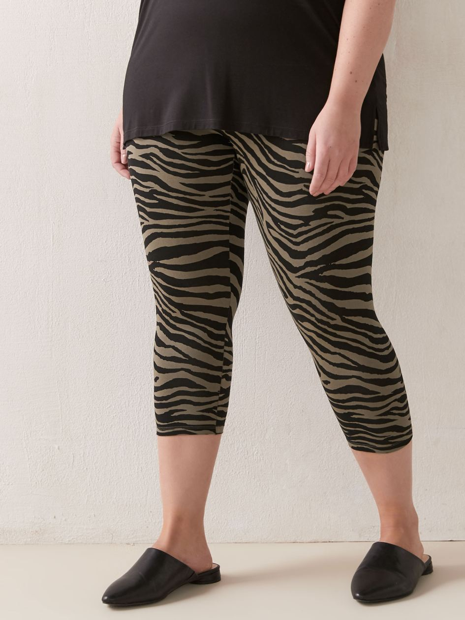 Printed Capri Legging - Addition Elle