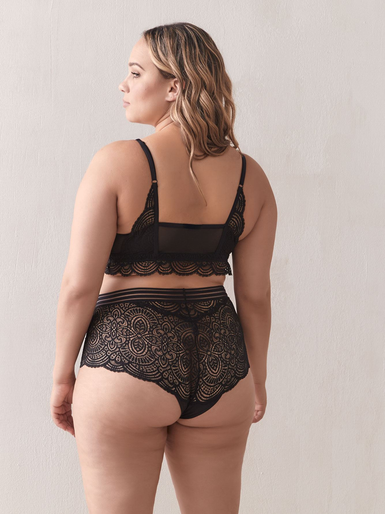Mesh and Lace Bralette - Ashley Graham