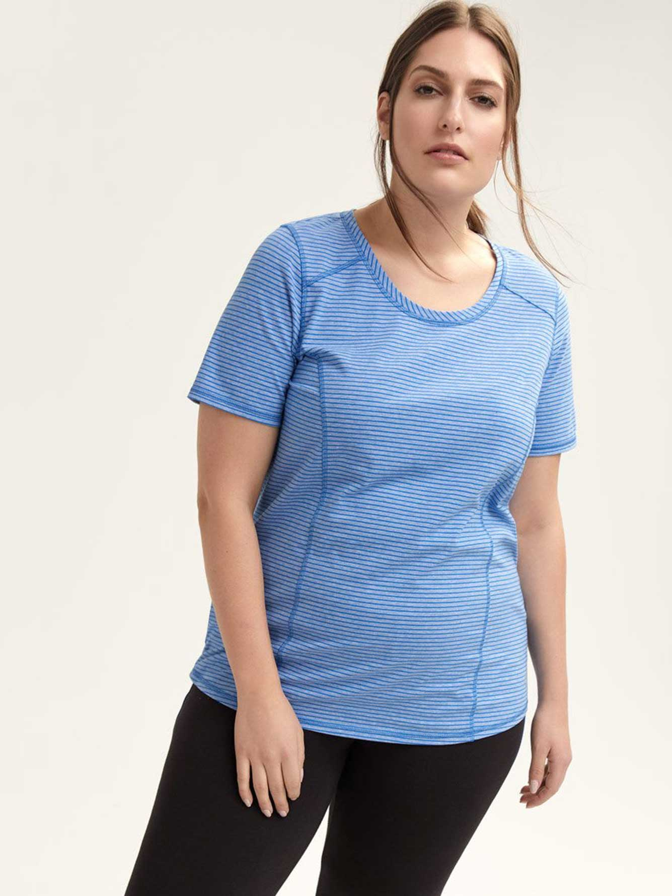 Striped Short Sleeve T-Shirt - ActiveZone
