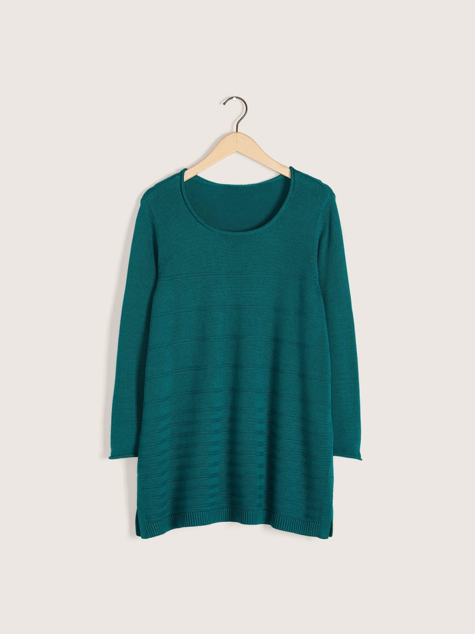 Scoop Neck Cotton Sweater - In Every Story