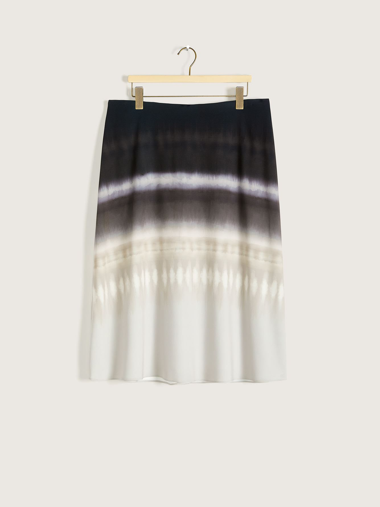 Printed Satin Midi Skirt - Addition Elle