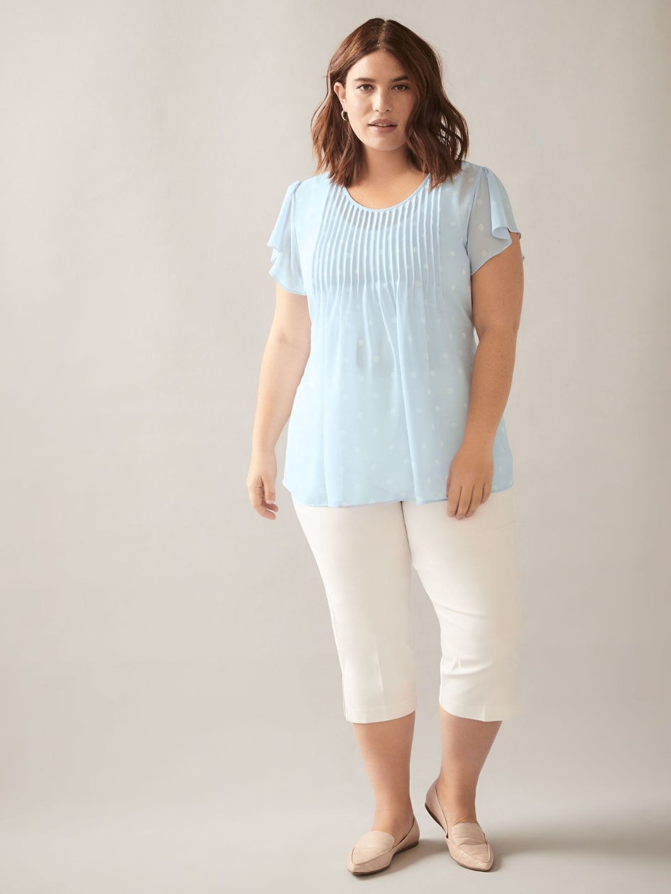 Short-Sleeve Chiffon Blouse - In Every Story