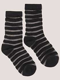 Single Pair of Socks with Mesh Stripes