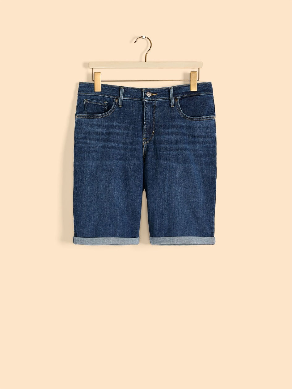 Stretchy Shaping Mid-Rise Bermuda Jean Short - Levi's
