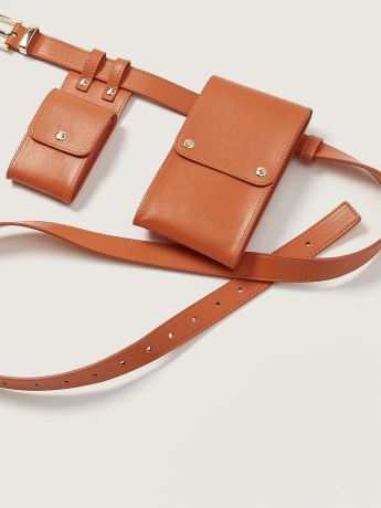 Faux-Leather Belt Bag - Addition Elle